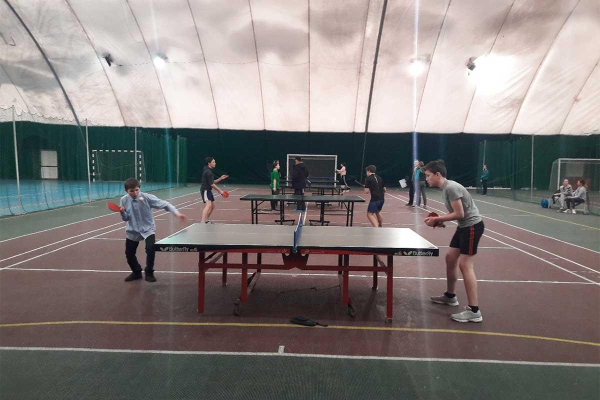 окружные соревнования по настольному теннису